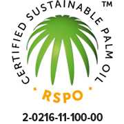 RSPO certified.