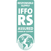 Global Standard and Certification Programme for the Responsible Supply of Fishmeal and Fish oil (IFFO RS) zertifziertes Produkt.